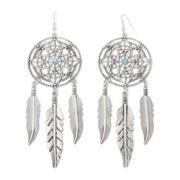 Arizona Silver-Tone Dream Catcher Earrings