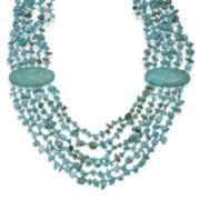 Mixit™ Genuine Turquoise Chips Multi-Row Necklace