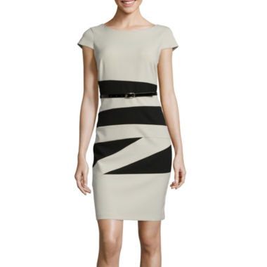 jcpenney.com | Alyx® Cap-Sleeve Colorblock Sheath Dress