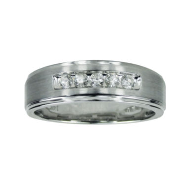 jcpenney.com | LIMITED QUANTITIES Mens1/4 CT. T.W. Diamond 14K White Gold Ring