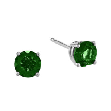jcpenney.com | Lab-Created Helenite 14K White Gold Stud Earrings