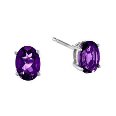 jcpenney.com | Genuine Amethyst 14K White Gold Stud Earrings