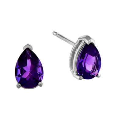 jcpenney.com | Genuine Amethyst 14K White Gold Pear-Shaped Stud Earrings