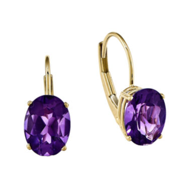 jcpenney.com | Genuine Amethyst 14K Yellow Gold Earrings