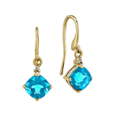 jcpenney.com | Genuine Swiss Blue Topaz 14K White Gold Round Earrings