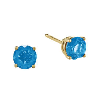 jcpenney.com | Genuine Swiss Blue Topaz 14K Yellow Gold Earrings