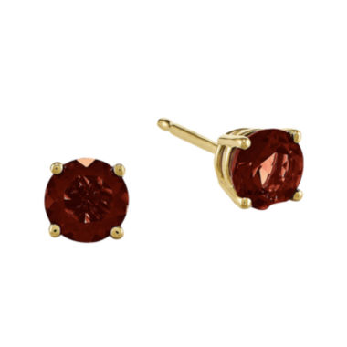 jcpenney.com | Genuine Red Garnet 14K Yellow Gold Stud Earrings