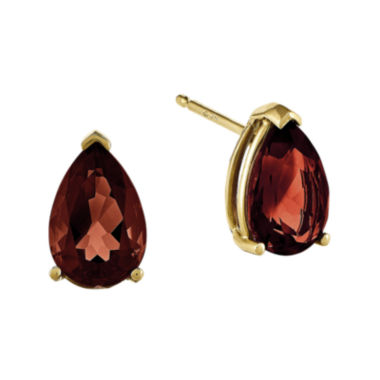jcpenney.com | Genuine Red Garnet 14K Yellow Gold Pear-Shaped Earrings