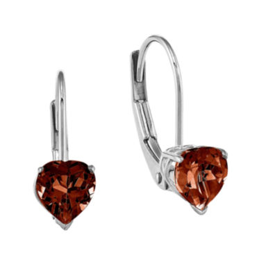 jcpenney.com | Genuine Garnet 14K White Gold Earrings