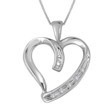 jcpenney.com | Diamond-Accent 10K White Gold Heart Pendant Necklace