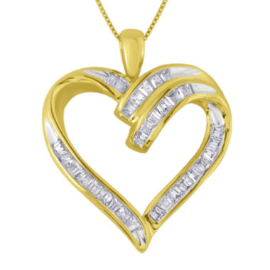 jcpenney.com | 1/3 CT. T.W. Diamond 10K Yellow Gold Heart Pendant Necklace