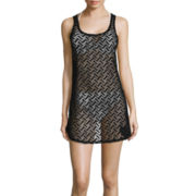 Arizona Crochet Racerback Tank-Dress Swim Cover-Up - Juniors