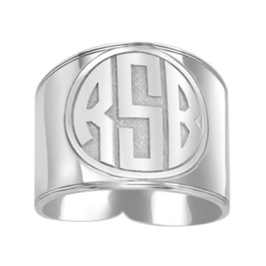 jcpenney.com | Personalized Circle Block Monogram Ring
