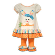 Bonnie Jean® Bunny Top and Leggings Set - Toddler Girls 2t-4t
