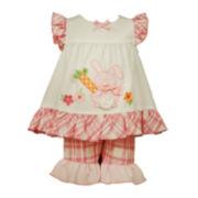 Bonnie Jean® Sleeveless Bunny Dress and Capri Pants Set - Toddler Girls 2t-4t