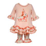 Bonnie Jean® Bunny Dress and Leggings Set - Preschool Girls 4-6x