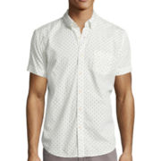 Arizona Printed Short-Sleeve Poplin Shirt