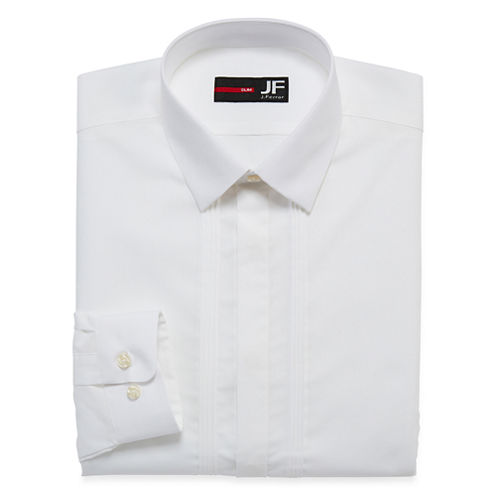 JF J. Ferrar® Easy-Care Tuxedo  Shirt - Slim Fit