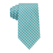 Stafford® Creekside Nonsolid Grid Silk Tie