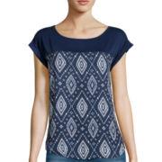 Rewind Short-Sleeve Print Woven T-Shirt