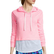 City Streets® Long-Sleeve Layered Popover Hoodie - Juniors Plus