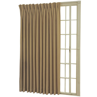 Eclipse Back Tab Pinch Pleat Thermal Blackout Patio Door Curtain