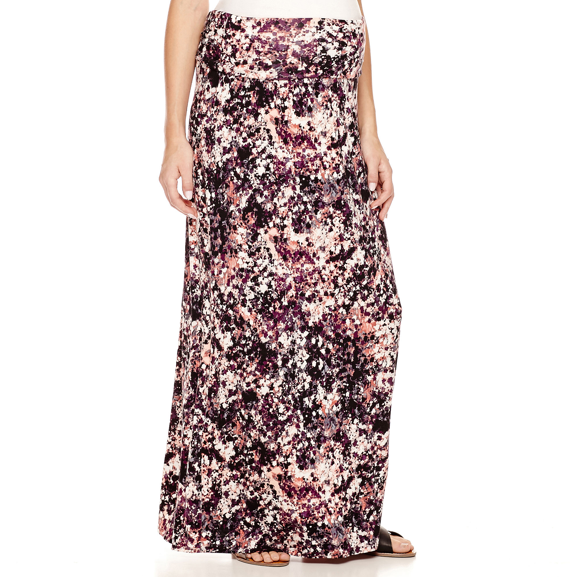a.n.a Maternity Wide-Waistband Maxi Skirt plus size,  plus size fashion plus size appare