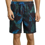 Jamaica Bay® Printed Micro Volley Swim Trunks