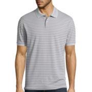 Claiborne® Performance Striped Polo
