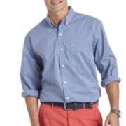 IZOD® Long-Sleeve Stretch Gingham Sport Shirt