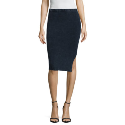 Decree Side Slit Bodycon Skirt - Juniors