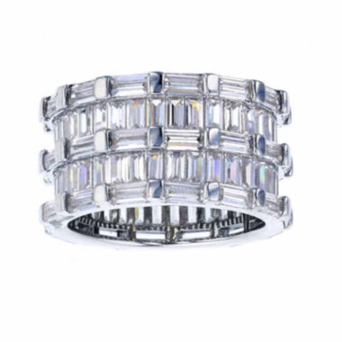 jcpenney.com | Sterling Silver Baguette-Cut Cubic Zirconia Eternity Ring