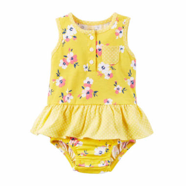 jcpenney.com | Carter'S Girls One Piece Sunsuit Yellow Swimsuit-Baby