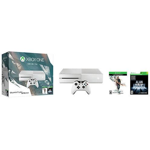 Microsoft Xbox One 500GB White Console - Special Edition Quantum Break Bundle