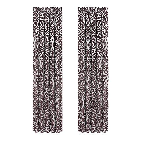 Queen Street Sarah Rod-Pocket Curtain Panel