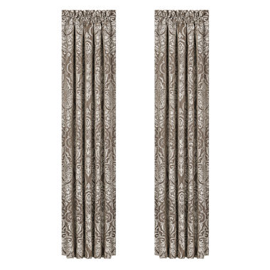 jcpenney.com | Queen Street Stanford 2-Pack Rod-Pocket Curtain Panel