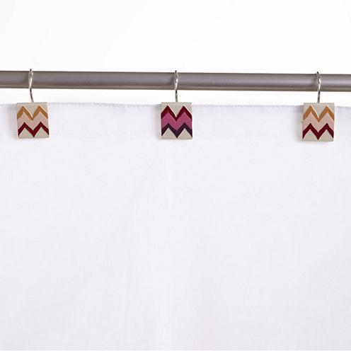 Popular Bath Flame Stitch Shower Curtain Hooks