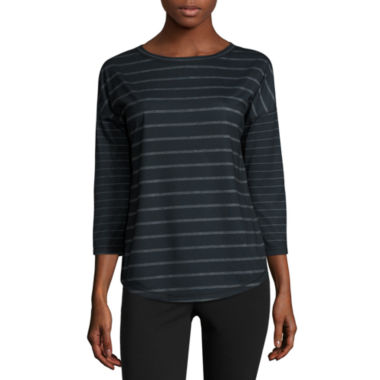 jcpenney.com | Made For Life 3/4 Sleeve Crew Neck T-Shirt-Petites