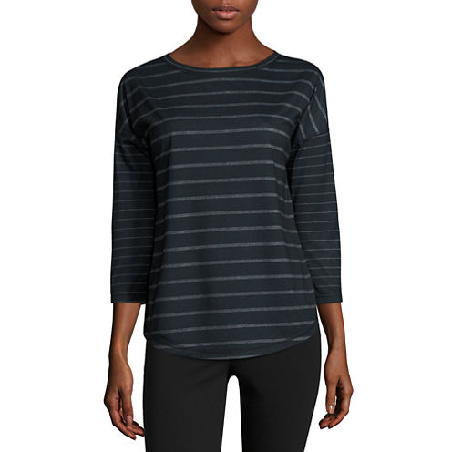 Made For Life Long Sleeve Crew Neck T-Shirt-Petites