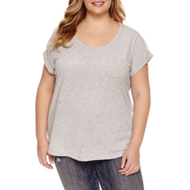 jcpenney.com | a.n.a Short Sleeve Round Neck T-Shirt-Plus
