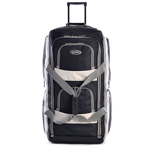 """Olympia 8 pocket 22"""" Carry On Rolling Upright Duffel Bag"""