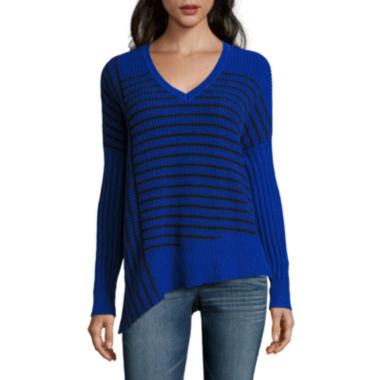 jcpenney.com | a.n.a Asymmetric Long Sleeve Pullover Sweater