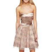 Strapless Sequins Party Dress