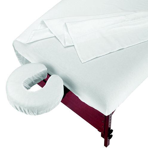 Master® Massage 3-pc. Flannel Massage Table Sheet Set