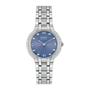 jcpenney.com | Citizen® Eco-Drive® Bella Womens Diamond-Accent Bracelet Watch EM0120-58L