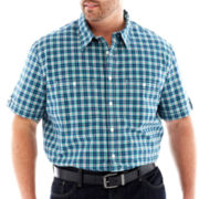The Foundry Supply Co.™ Patterned Poplin Shirt-Big & Tall
