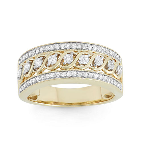 1/2 CT. T.W. Diamond 10K Yellow Gold Anniversary Band