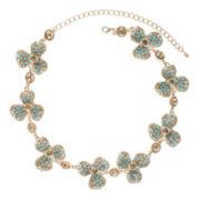 Jardin Aqua Stone Three-Petal Flower Necklace