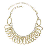 Jardin Crystal Gold-Tone Petal Collar Necklace