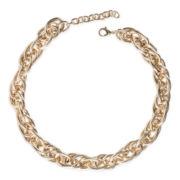 Jardin Gold-Tone Oval Byzantine Link Necklace